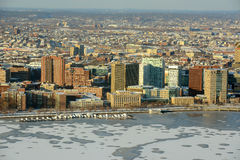Campus del MIT en la batería de río de Charles, Boston fotos de archivo libres de regalías