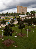 Campus en de moderne bouw Royalty-vrije Stock Foto's