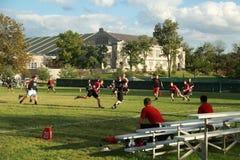 Campus Football Training stock photos