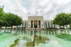 Campus hermoso de la universidad de la ciudad de Pasadena foto de archivo libre de regalías