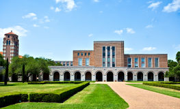 Campus Library. At Rice University, Houston, Texas Royalty Free Stock Images