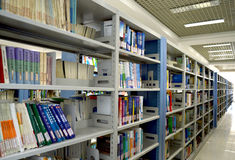 The Campus library. In Beijing, China University of Mining Library Royalty Free Stock Image