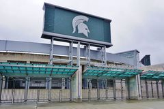 The campus of Michigan State University. EAST LANSING, MI -Founded in 1855 as the Agricultural College of the State of Michigan, Michigan State University (MSU) Stock Photo