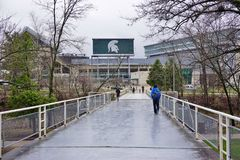 The campus of Michigan State University Stock Photos