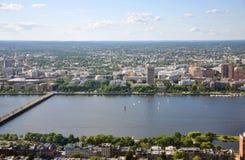 Campus MIT op de bank van Charles River, Boston stock afbeelding