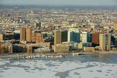 Campus MIT op de bank van Charles River, Boston Royalty-vrije Stock Foto's