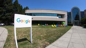 Campus Mountain View de Google almacen de metraje de vídeo