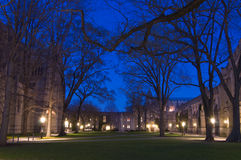 Campus at night. Campus buildings in Princeton University at night Royalty Free Stock Image