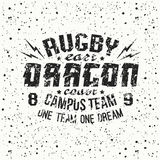 Campus rugby team emblem Stock Photography