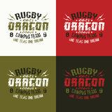 Campus rugby team emblem Royalty Free Stock Photography