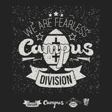 Campus rugby team emblem and icons Stock Image