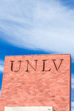 Campus Sign and Logo at the University of Nevada Stock Photography