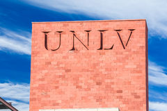 Campus Sign and Logo at the University of Nevada Royalty Free Stock Image