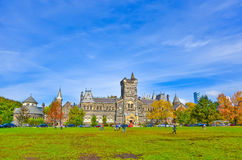 Campus of Toronto University in autumn Royalty Free Stock Photo
