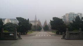 Campus universitário da agricultura de Nanjing fotografia de stock royalty free