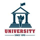 Campus universitario stock de ilustración