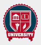 Campus universitario ilustración del vector