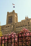 Campus universitario attraente del midwest immagine stock