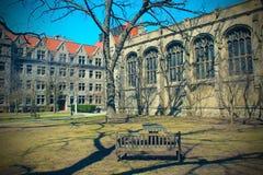Campus universitario de Chicago Imagen de archivo libre de regalías