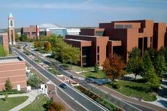 Campus universitario della condizione della sfera fotografia stock