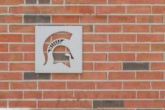 Campus universitario dello stato del Michigan Fotografie Stock Libere da Diritti