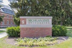 Campus universitario dello stato del Michigan Fotografie Stock