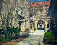 Campus universitario di Chicago Fotografia Stock