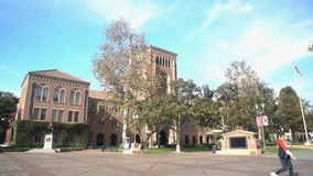 Campus of the University of Southern California. Los Angeles, DEC 2: Bovard Aministration, Auditorium of the University of Southern California on DEC 2, 2017 at stock video