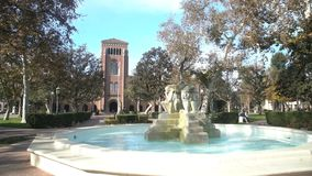 Campus of the University of Southern California. Los Angeles, DEC 2: Bovard Aministration, Auditorium of the University of Southern California on DEC 2, 2017 at stock video footage