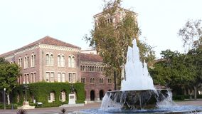 Campus of the University of Southern California. Los Angeles, DEC 9: Campus of the University of Southern California on DEC 9, 2016 at Los Angeles stock footage