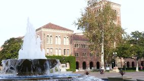 Campus of the University of Southern California. Los Angeles, DEC 9: Campus of the University of Southern California on DEC 9, 2016 at Los Angeles stock video footage