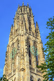Campus viejo Yale University New Haven Connecticut de la torre de Harkness foto de archivo libre de regalías