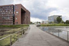 Campus of Wageningen university. Seen from bridge royalty free stock image
