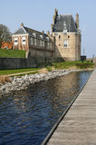 Campveerse Tower in the fortified city Veere Stock Photography