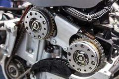 Camshaft drive chain Royalty Free Stock Photo