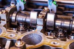Camshaft samochodowego silnika zakończenia fotografia Obraz Stock