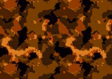 Camuflage样式红色 图库摄影