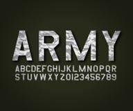 Camuflagem militar do exército da fonte de vetor ilustração royalty free