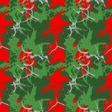 Camuflagem vermelha, verde e cinzenta do Natal do UFO ilustração stock