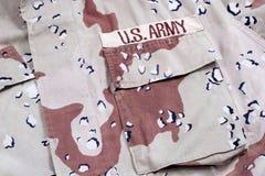 Camuflaje de la tormenta de desierto del ejército del Ejército del EE. UU. Imagen de archivo libre de regalías