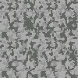 Camuflaje gris del pixel de Digitaces, modelo inconsútil del camo para su diseño Los militares camuflan ilustración del vector