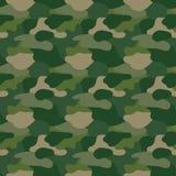 Camuflar verde Camo do mascaramento Cópia clássica da roupa Teste padrão do vetor Fotos de Stock Royalty Free