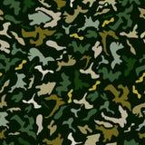 Camufle el efecto de colores verdes y grises sobre un color negro stock de ilustración