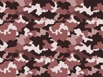 Camufle el fondo del modelo en los colores marrones, inconsútiles Textura geométrica abstracta de la moda militar ilustración del vector