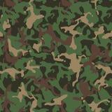 Camufle el modelo Uniforme militar verde Textura de Camo stock de ilustración