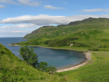 Camus Nan Geall Bay (Scotland). The scenic Camus Nan Geall Bay on Ardnamurchan (Scotland Stock Photos