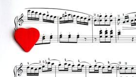 Canção do amor Fotografia de Stock