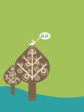 Canção do pássaro ilustração royalty free