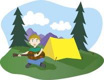 Canções do acampamento Foto de Stock
