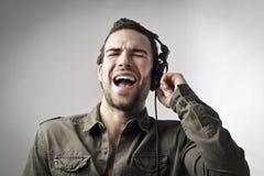 Canções do canto Fotografia de Stock